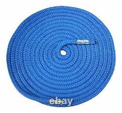 Boat Lines & Dock Ties Premium Double Braided Nylon Boating Rope 1/2 Inch 100