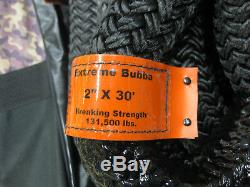 Bubba Rope Extreme 2 X 30 Nylon Fiber Double Braid Tow Recovery Snatch Strap