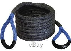 Bubba Rope withBag 7/8 X 20 Nylon Double Braid Recovery Snatch Strap Black & Blue
