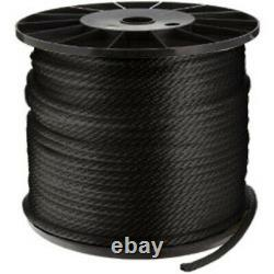CWC Double Braid Nylon Rope 5/8 x 600 ft, Black