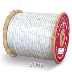 CWC Double Braid Nylon Rope 7/16 x 600 ft, White