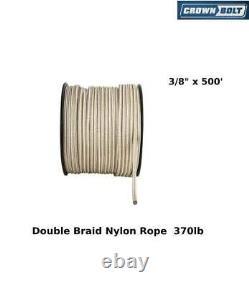 Double Braid Nylon Rope 3/8 X 500' Crown Bolt