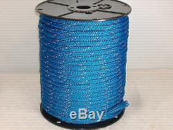 Double Braid Polyester 1/2x 300 ft yacht braid halyard blue withred/white markers