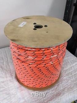 Double Braid Polyester 1/2x600 ft arborist rigging tree rope bull rope orange