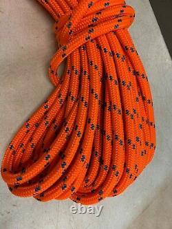 Double Braid Polyester 3/4 x200 ft arborist rigging tree bull rope orange/ blue