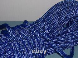 Double Braid Polyester 5/8x100 feet arborist rigging tree bull rope blue/black