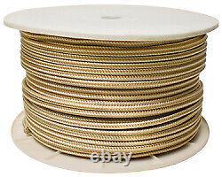 Double Braid Rope Spool, Gold/White, 5/8 X 600' Seachoice