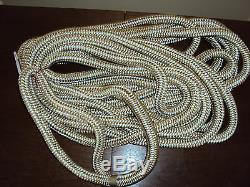 GOLD/WHITE 3/4 x 50 Double Braid Dock Lines PAIR (2 ropes) Boating Ropes