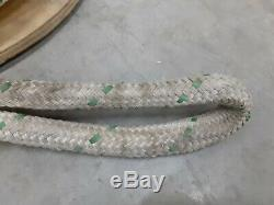 GREENLEE 3/4 x 300 FT DOUBLE BRAIDED WIRE PULLING ROPE With2 EYES 35098