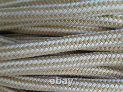 Gold Double Braid Nylon Rope Marine Grade 3/4 x 180+ft for Dock Anchor Line