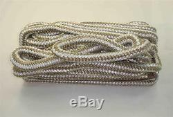 Marine Grade Double Braid Nylon Rope 1/2 x 250ft Gold for Dock Anchor Line 22994