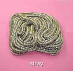 Marine Grade Double Braid Nylon Rope 3/8 x 250ft Gold for Dock Anchor Line 22987