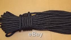NEW 1/2 (12mm) x 200' Double Braid Static Line, Safety Rope, Black