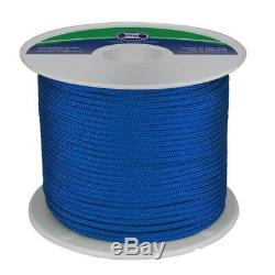 NEW 6mm x 200Mtr Polyester Double Braid Rope Blue (Reel) from Blue Bottle Marine