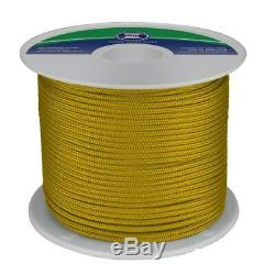 NEW 6mm x 200Mtr Polyester Double Braid Rope Gold (Reel) from Blue Bottle Marine