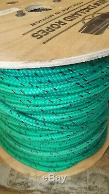 NEW 7/16 (11mm) x 350' Double Braid Static Line, Safety Rope, Green