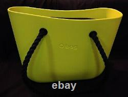NEW Green Obag With Double twist Rope Handles Thick Foam O bag Italy Italian