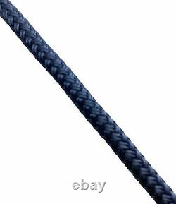 Navy Blue Quality Double Braid on Braid Polyester Mooring Yacht Marine Rope