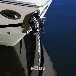 New 150'x1/2 Double Braided Nylon Rope & 15'x1/4 HT G4 Chain, Windlass, Rode