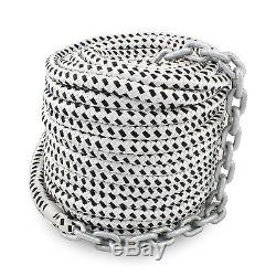 New 200'x1/2 Double Braided Nylon Rope & 15'x1/4 HT G4 Chain, Windlass, Rode