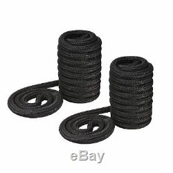 New TWO 50'x3/4 Dock Lines for Boat, Double Braided (Black), Mooring Rope