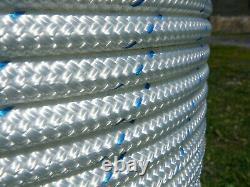 NovaBraid Halyard Sheet Line, Double Braid Polyester Sailboat Rope 1/2 x 125