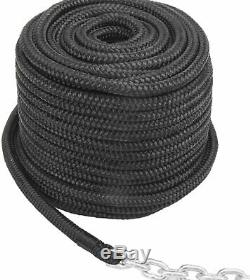 NovelBee 1/2 In x300 Ft Double Braid Nylon Anchor Rope with 1/4 In x15 Ft Chain