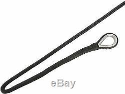 NovelBee 5/8 x 250' Black Double Braid Nylon Anchor Rope Dock Line with Thimble