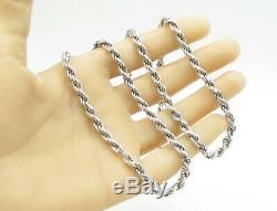 PGDA 925 Sterling Silver Double Twist Rope Design 30 Necklace N1103