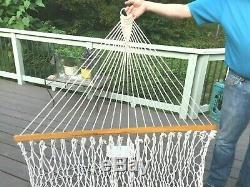 Pawleys ISLAND cotton rope Hammock 130C 54x82x13 Deluxe NEW Open Box withhardware