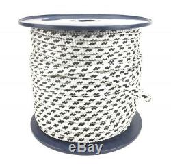 Quality Double Braid on Braid Polyester Rope 8mm 10mm 12mm 14mm 16mm White Black