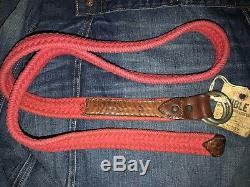 RRL Ralph Lauren Double RL Italian Thick Braided Nautical Rope Belt 34
