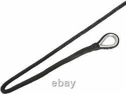 RealPlus 5/8Inx300Ft Double Braid Black Nylon Boat Rope Mooring Dock Line