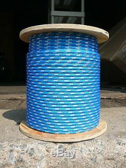 Sailboat Rigging Rope 5/16 x 200' Blue/White Double Braided Sheet Halyard Line