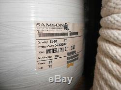 Samson 3/8 Amsteel II 2 Dyneema Core Dependent Double Braid Rope 100 ft