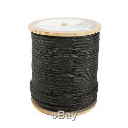 SeaDog 302110600BK Double Braided Nylon Marine Rope 3/8in x 600ft Black