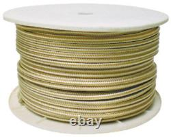 Seachoice 40170 Gold/White Double Braid, 1/2x 600' High Grade Nylon Rope LC