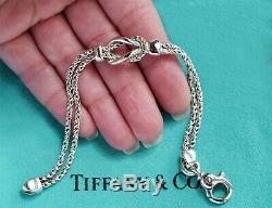Tiffany & Co Sterling Silver Infinity Twist Double Love Knot Rope Bracelet