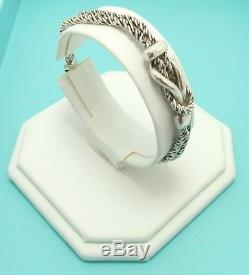 Tiffany & Co. Sterling Silver Sailor Double Knot Braid Rope Chain Bracelet 7.5'