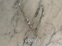 Tiffany & Co. Sterling Silver Twist Rope Double Puffed Heart Bangle Bracelet