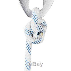 Twin sheave block and tackle 7500Lb pulley system 200 feet 1/2 Double Braid Rope