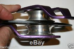 Twin sheave block and tackle 7500Lb pulley system 218 feet 1/2 Double Braid Rope