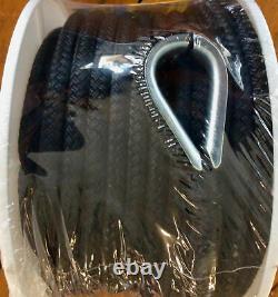 US Ropes Nylon Double Braided Anchor Line 5/8 x 200' Black