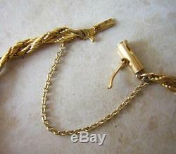 VINTAGE 9 ct GOLD DOUBLE ROPE TWIST BRACELET 3.63gms SOLID GOLD BRACELET